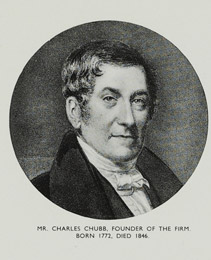 Charles Chubb, founder of the Chubb Locks. Born 1772, died 1846 known as The London Locksmith